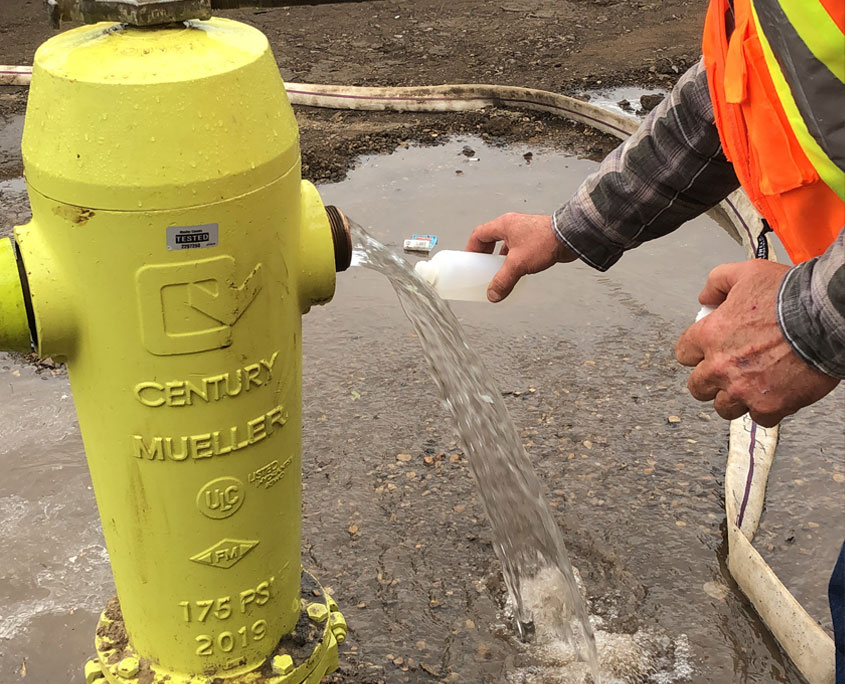 Water sample from hydrant