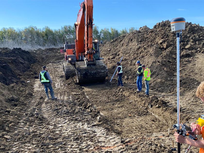 Alberta survey of construction site